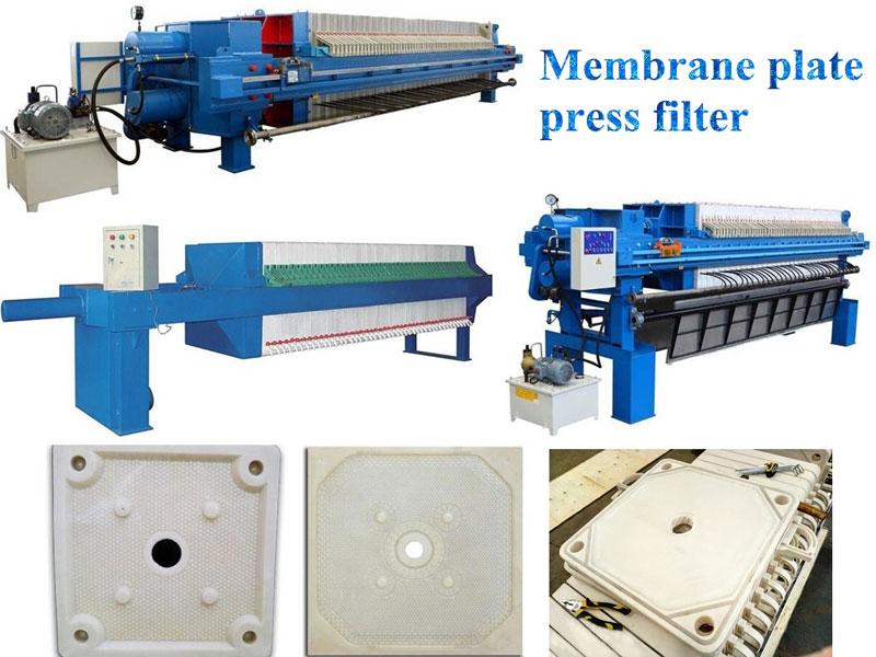 Membrane plate press filter