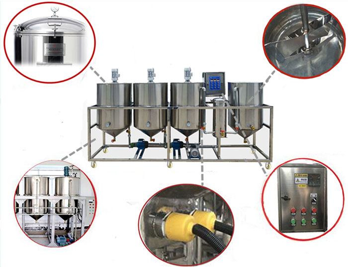detailes of oil bleaching machine