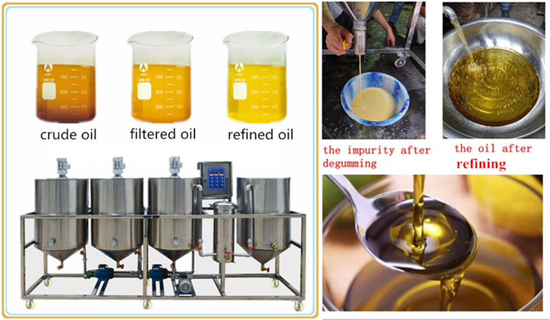 degumming process in oil refining plant
