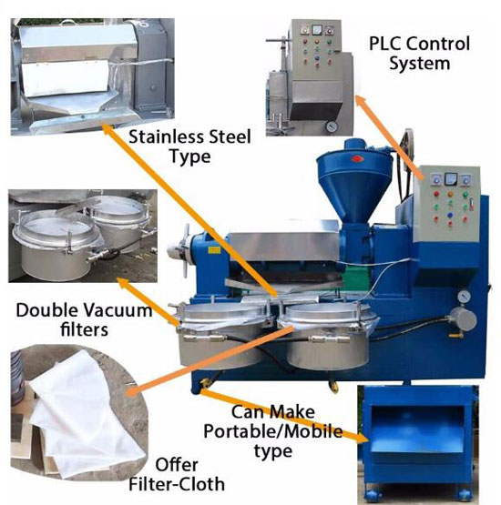 details of automatic screw oil press machine