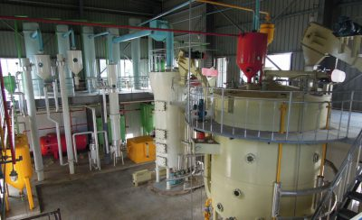 large soybean oil processing plant