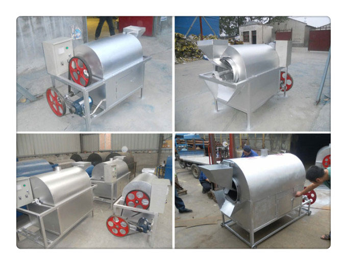 nut and seed roaster machine for oil preprocessing workshop