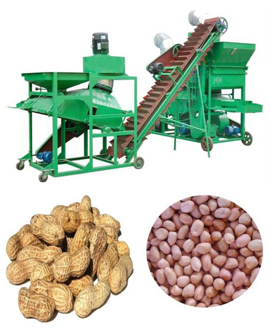 peanut shelling machine for removing husks of groundnut