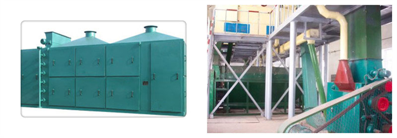 soybean flakes drying machine in soybean oil pretreatment workshop