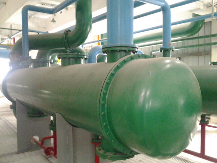 condenser in the solvent recovery systems