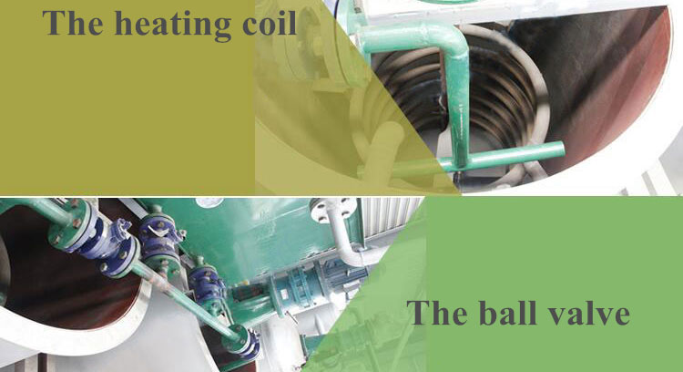 heating coil and ball valve of batch oil refinery machines