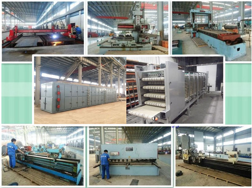 plate dryer manufacturing workshop in factory