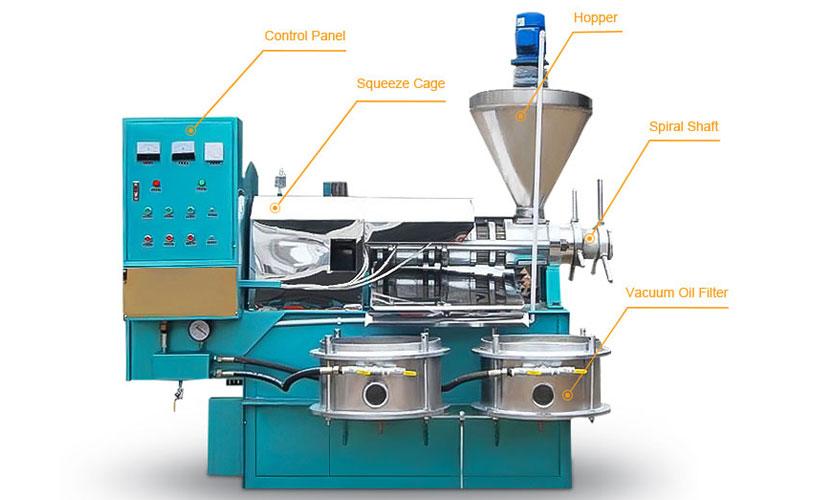automatic screw oil expeller machine