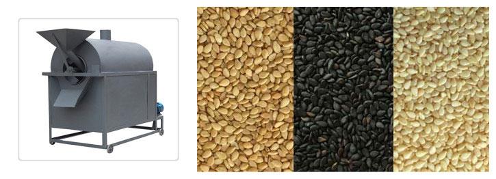 sesame seeds roasting machine