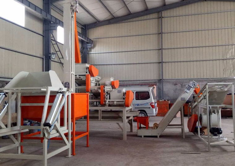 oilseeds shelling separating machine unit
