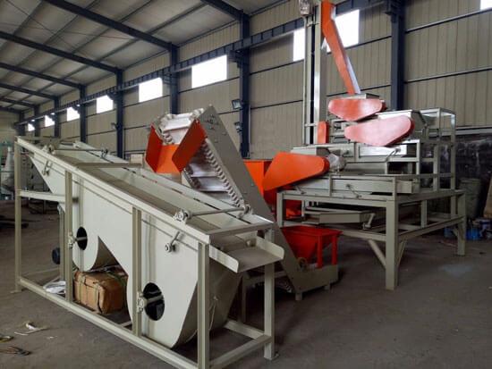 oilseeds shelling separating machine unit