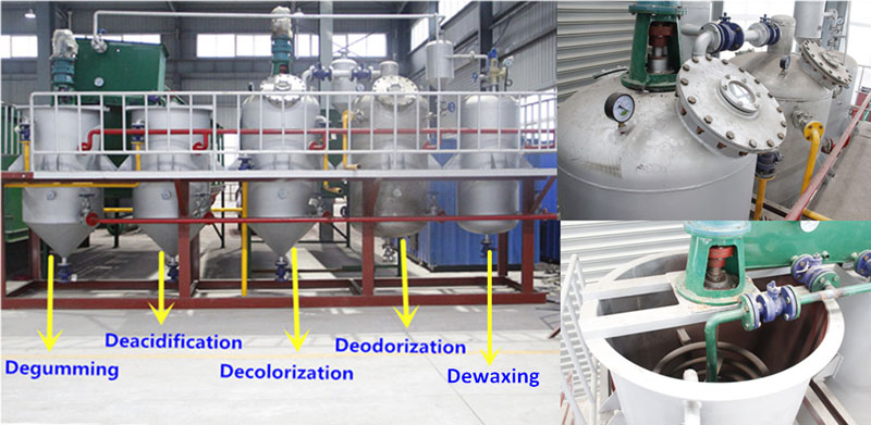 Small scale edible oil refinery plant for sale